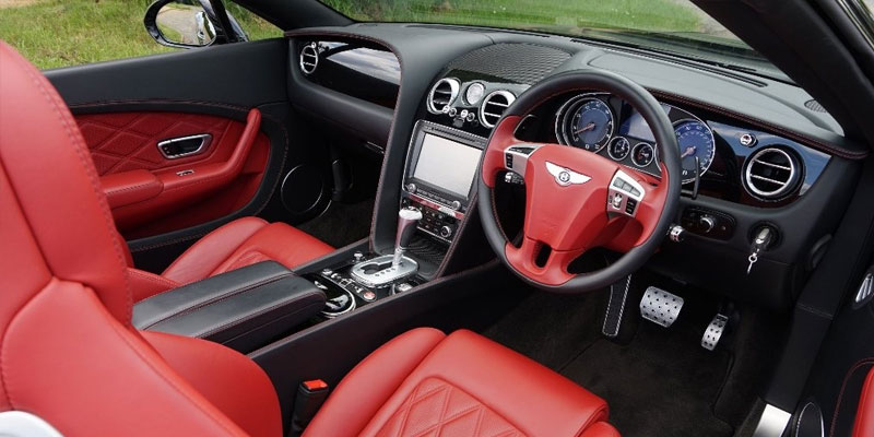Bentley Continental GTC Hire Front Driver Inside