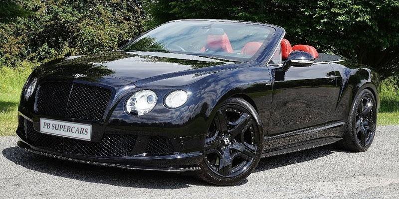 Bentley Continental GTC Hire Passenger Front Side