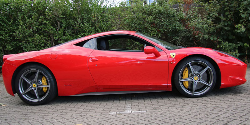 Ferrari for hire at PB Supercars. Hire a Ferrari 458 Italia today