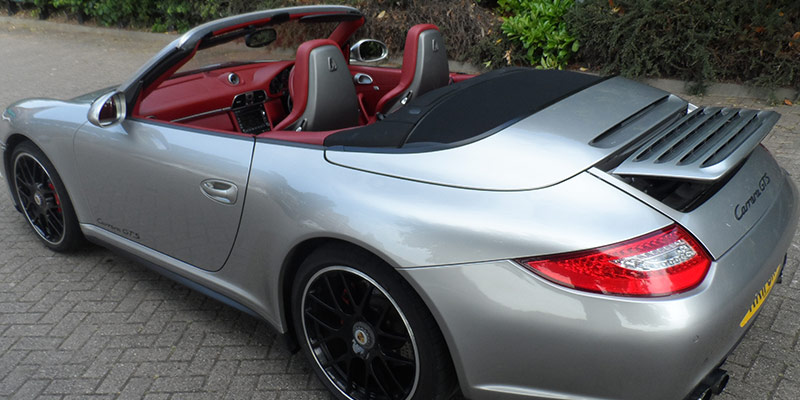 Porsche 911 Hire back with top down